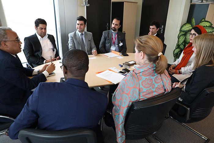 بیژن نصیری اعظم، مدیر عامل موسسه نوفن در جلسه شبکه سبز وایپو WIPO Green