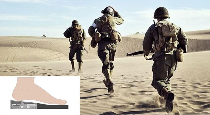 تولید برق توسط راه رفتن سربازان