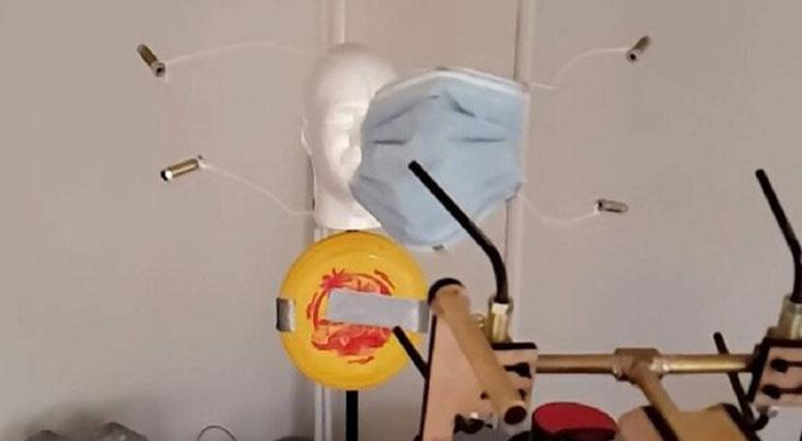 شلیک ماسک توسط اسلحه