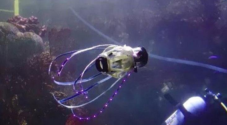 ساخت ربات زیرآبی با الهام از ماهی مرکب